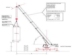 crane lift plan diagram